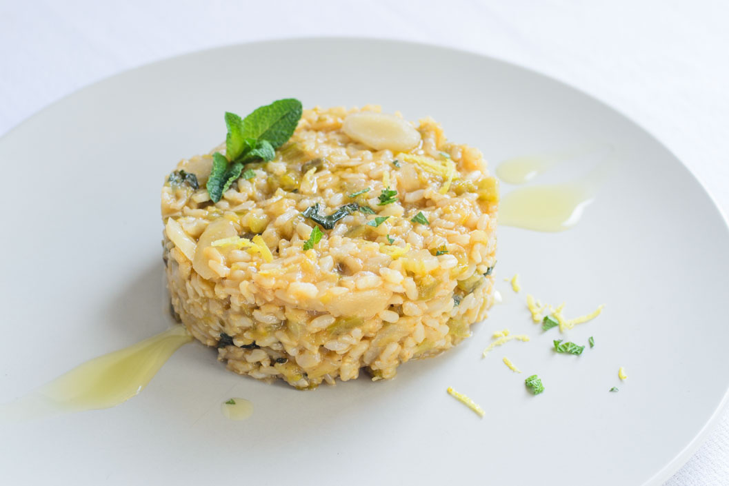Salsify and mint risotto
