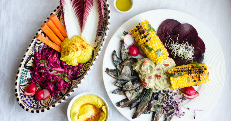 End of summer appetizer/brunch platter {vegan + gluten free + grain free)