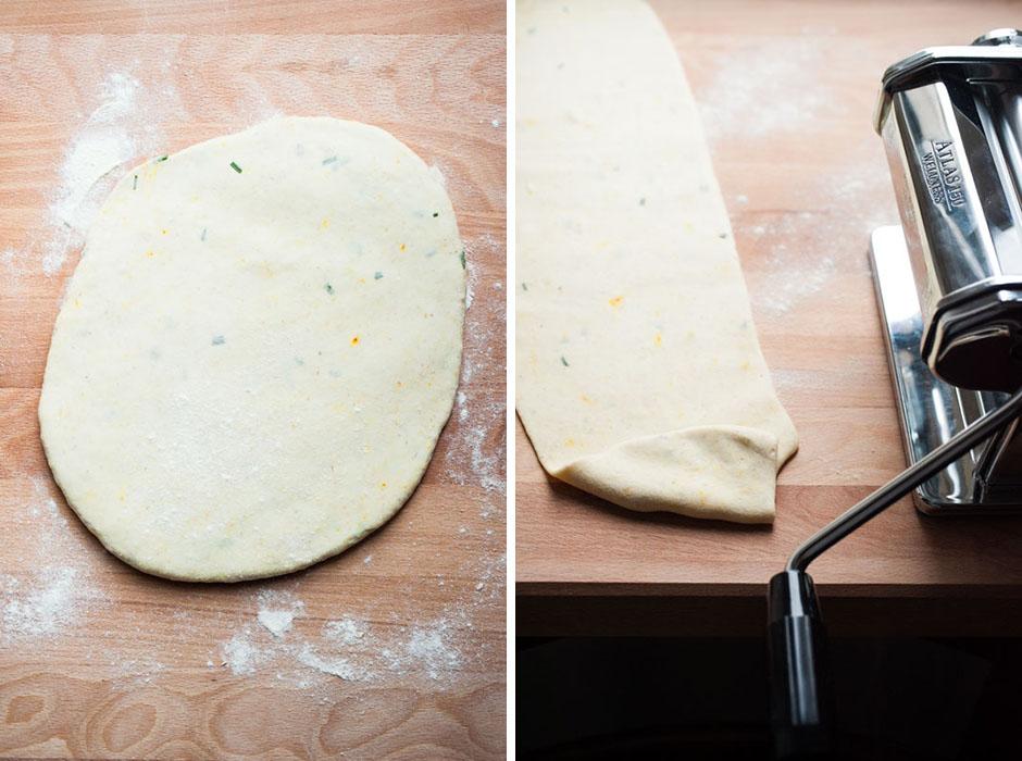 Handmade mushroom & chestnut-filled ravioli // vegan