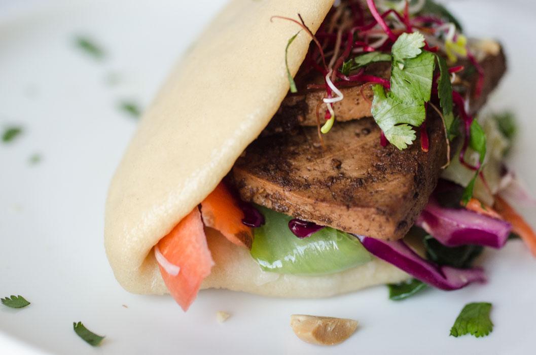 Veganised gua bao (Chinese steamed buns){vegan}