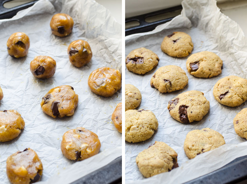 Chickpea flour chocolate chip cookies {vegan + gluten free + grain free}