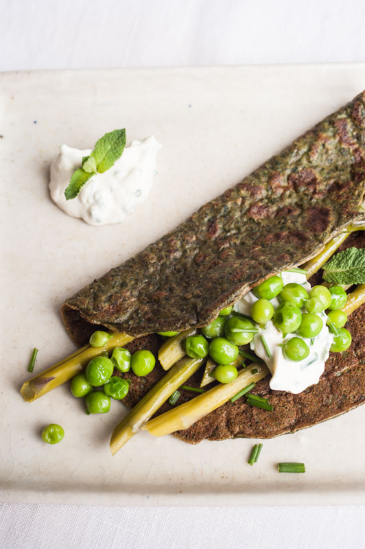 Hemp flour crêpes to welcome spring {vegan} Marta's Plants - plant-based