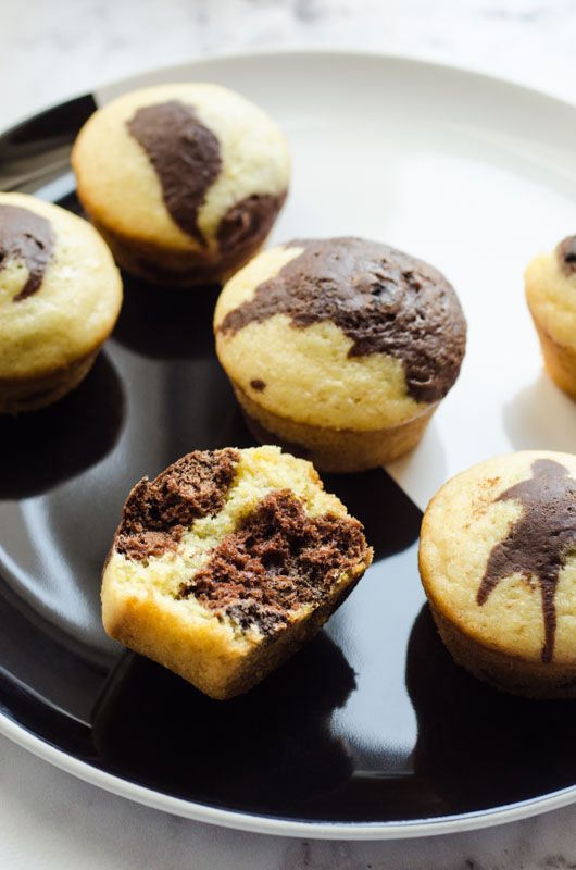 Marta's Plants - Marbled lemon & chocolate muffins {vegan}