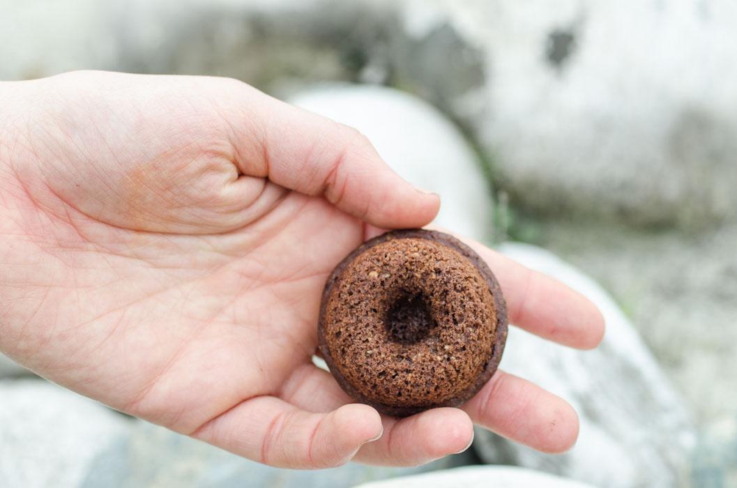 Marta's Plants - Mini cacao & coconut baked donuts {vegan}