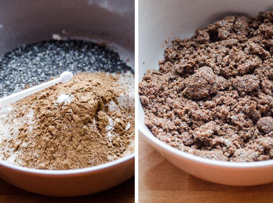 Marta's Plants X STEVIA'S: Stevia-sweetened carob shortbread cookies with apple compote {vegan + sugar free}