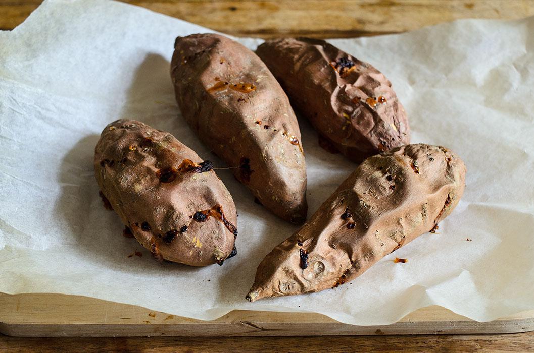 Marta's Plants - Homemade sweet potato buns + burgers {vegan}