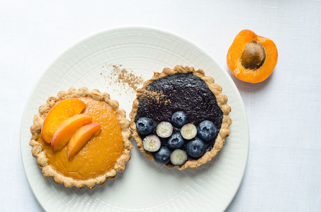 Marta's Plants - Sugar-free tartelettes filled with compote {vegan}