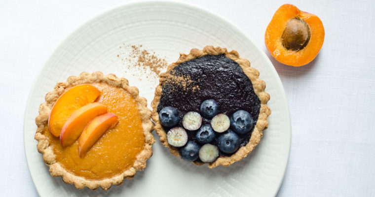 Marta's Plants X STEVIA'S: Sugar-free tartelettes filled with fruit compote {vegan}