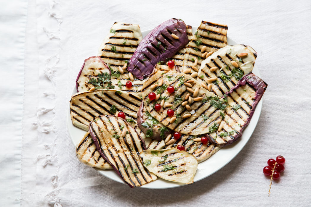 Marta's Plants - Grilled and marinated white eggplants {vegan}