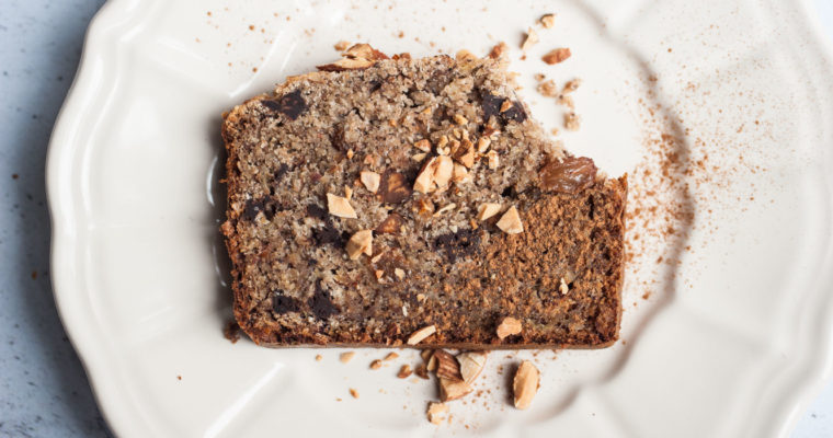 Buckwheat banana nut bread {vegan + gluten free}