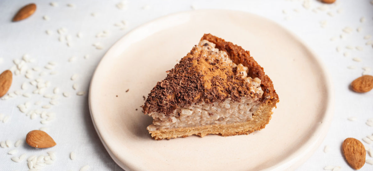 Rice pudding tart {vegan}