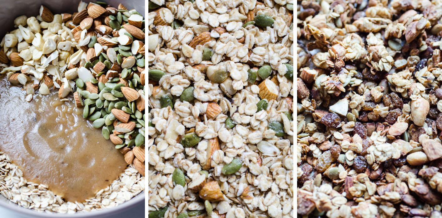 Marta's Plants - Applesauce granola {vegan + sugar free + oil free}