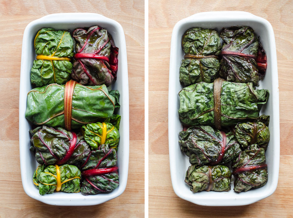 Marta's Plants - Rainbow chard rolls stuffed with black rice salad {vegan + gluten free}