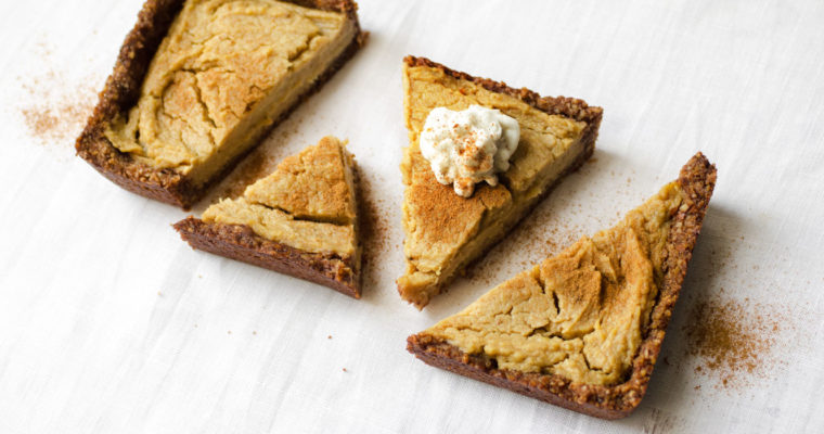 Sweet potato tart with coconut whipped cream {vegan + gluten free}