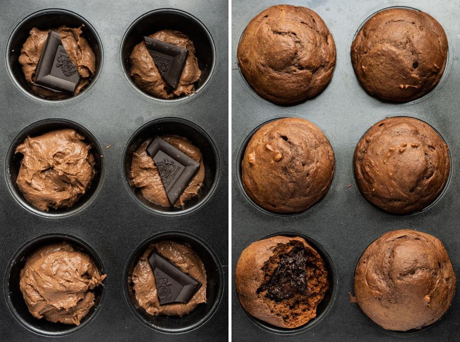 Fluffy chocolate muffins {vegan} - Marta's Plants