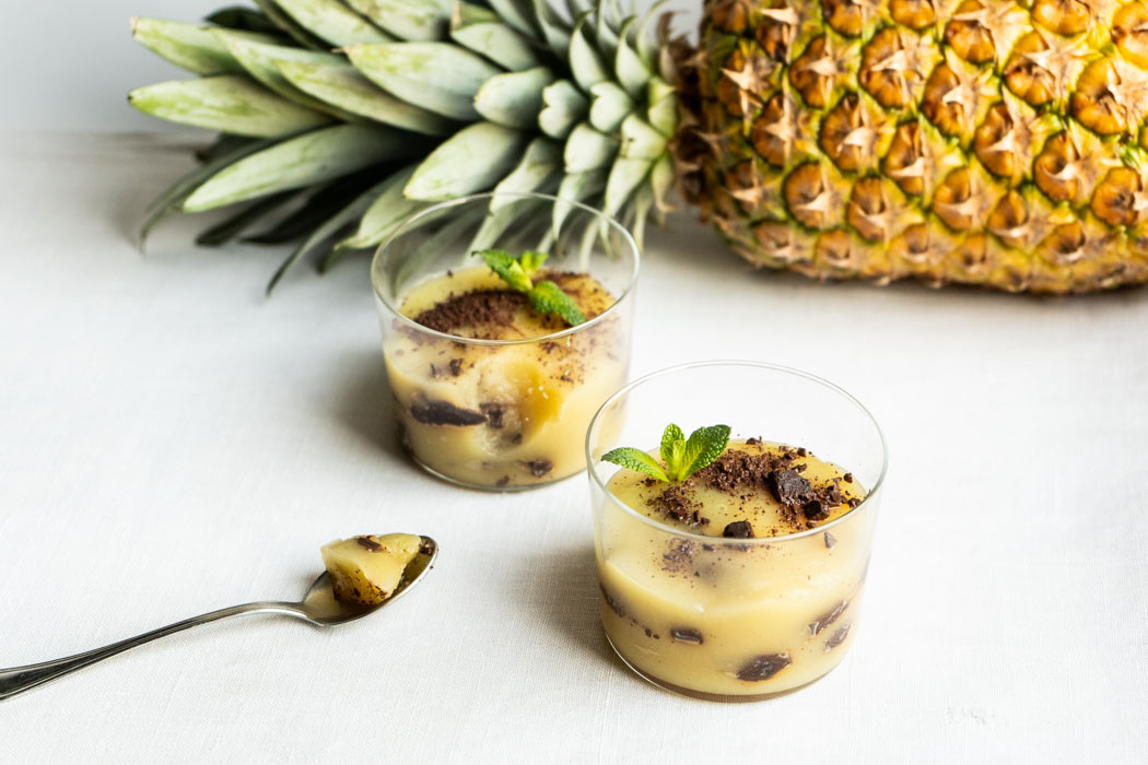 Pineapple & ginger pudding {vegan + gluten free} - Marta's Plants