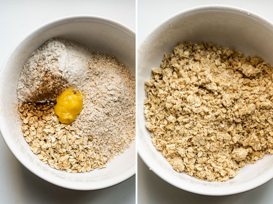 Strudel crumble {vegan + gluten free} - Marta's Plants
