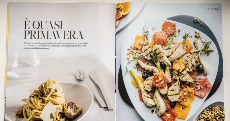 Food editorial on D di Repubblica (Feb 2nd, 2019)