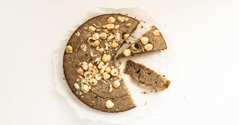 Torta di grano saraceno e nocciole {vegan + senza glutine}