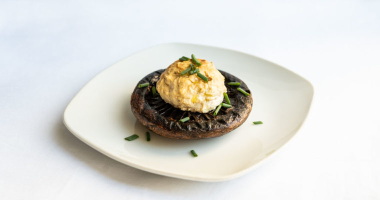 Marinated portobellos with a spiced tofu filling {vegan + gluten free}