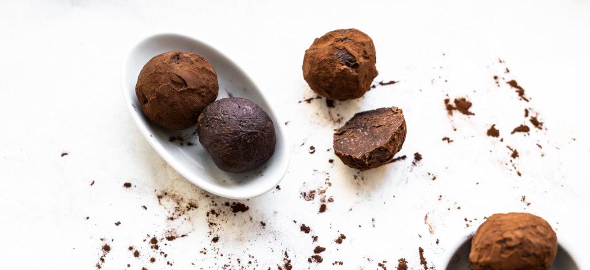 Easiest 2-ingredient chocolate truffles {vegan + gluten free}
