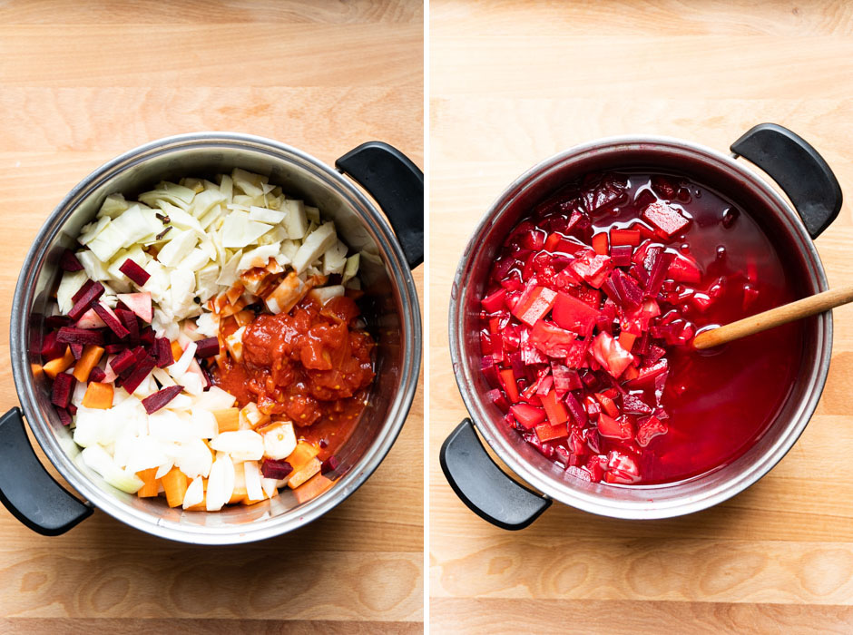 Summer borscht (cold beetroot soup) {vegan + gluten free} - Marta's Plants