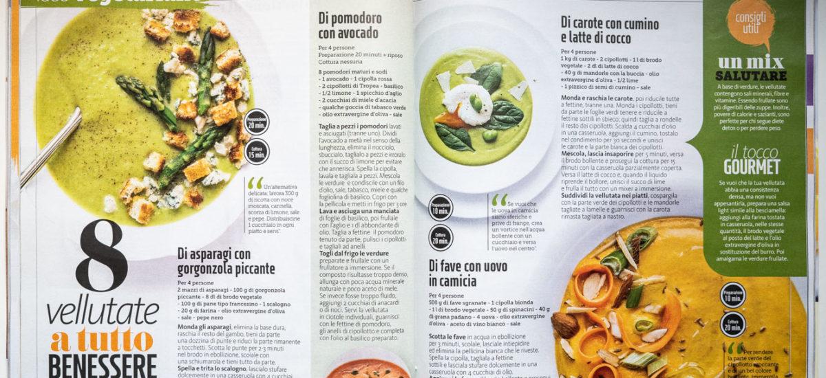 Cucina e foto – 6 vellutate vegetariane – per Giallo Zafferano (Maggio 2019)