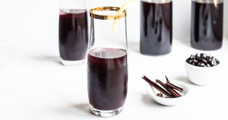 Chicha morada (Peruvian purple corn drink) {vegan + gluten free}