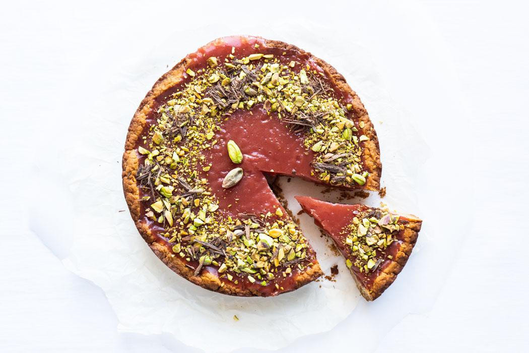 Watermelon pudding tart - Crostata di gelo di anguria (melone) - Marta's Plants