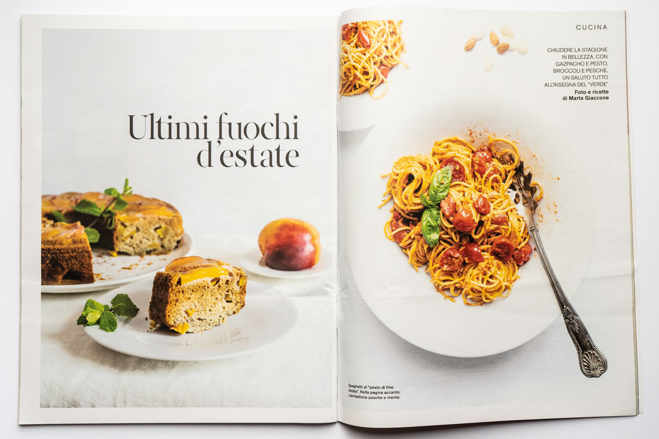 Food editorial on D di Repubblica (Sept 7th, 2019) by Marta Giaccone