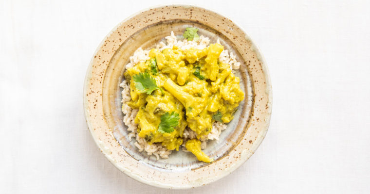 Curry di cavolfiore e melanzana {vegan + senza glutine}