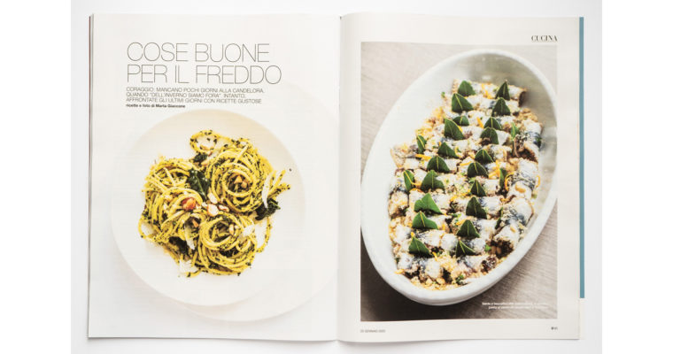 Food editorial on D la Repubblica (Jan 25th, 2020)