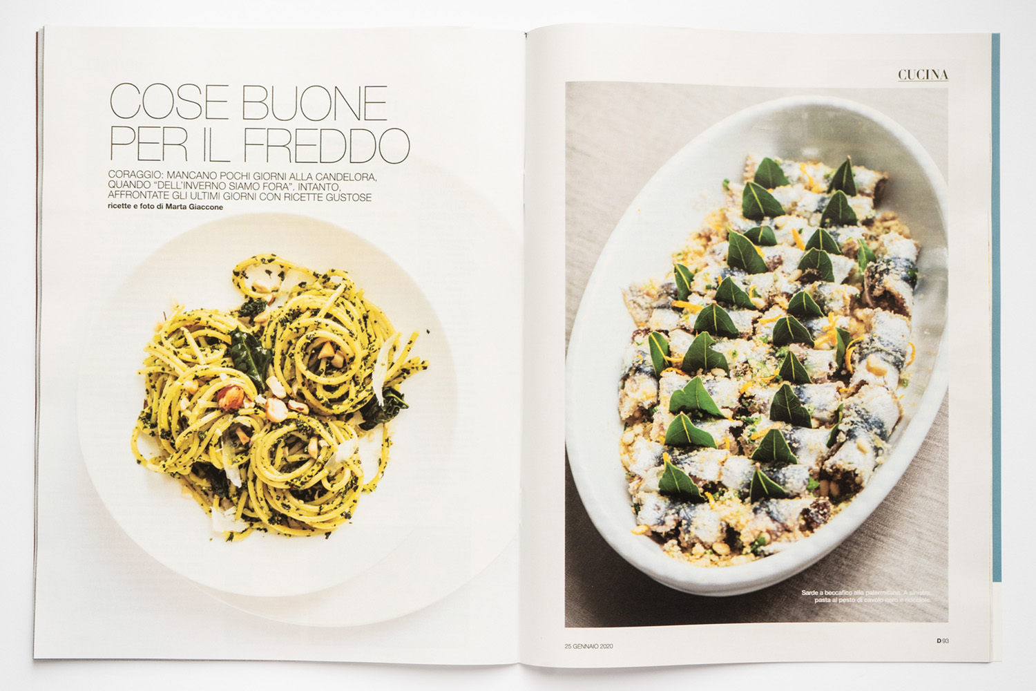 Food editorial on D la Repubblica (Jan 25th, 2020) by Marta Giaccone