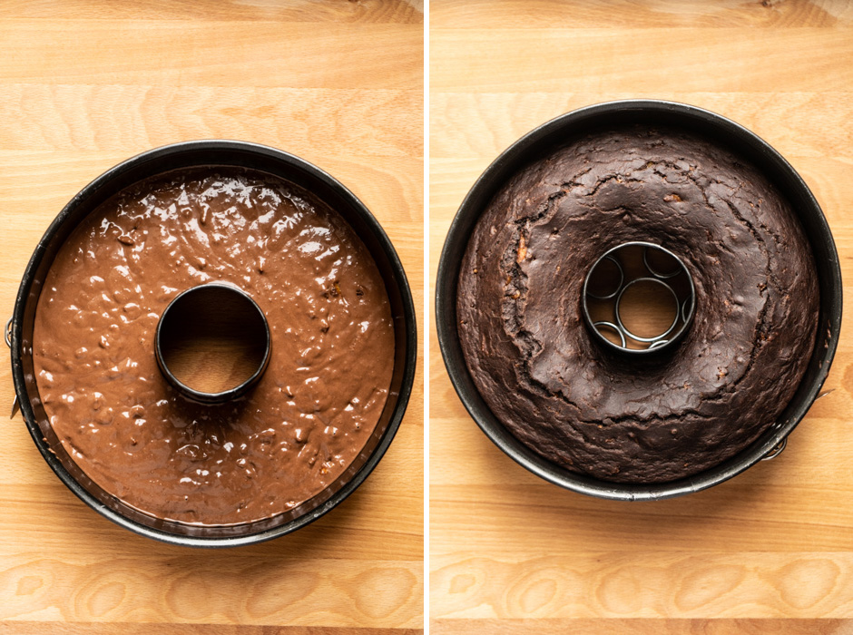 Chocolate bundt cake with homemade orange marmalade and amaretti {vegan except amaretti} - Marta's Plants