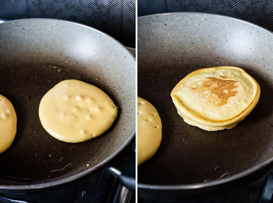 Chickpea flour pancakes with roasted veggies {vegan + gluten free}