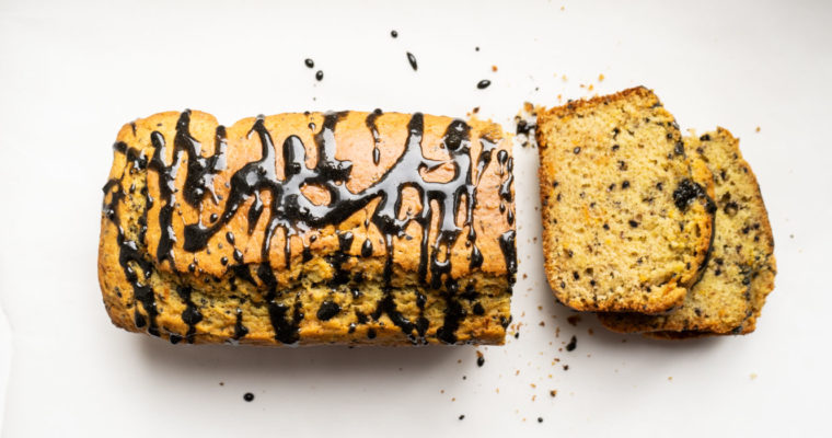 Citrus and black sesame pound cake {vegan}