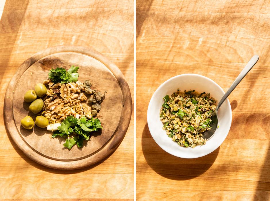 Ube (purple sweet potato) gnocchi w/ a walnut-caper {vegan} - Marta's Plants