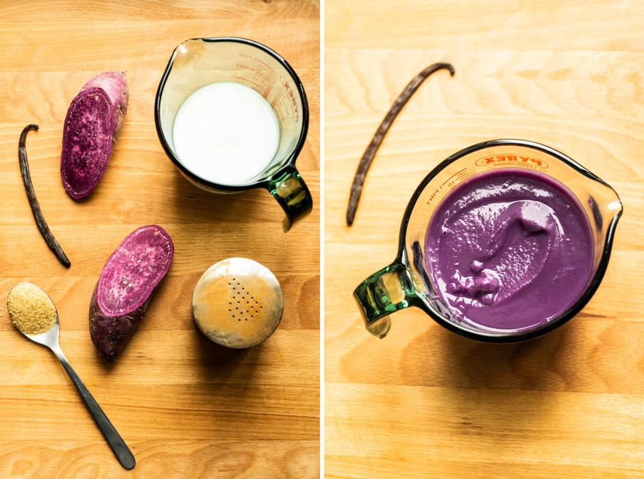 Ube (purple sweet potato) ice cream {vegan + gluten free} - Marta's Plants