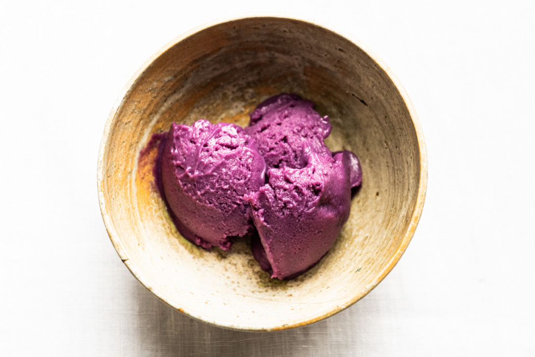 Ube (purple sweet potato) ice cream {vegan + gluten free} - Marta's Plants