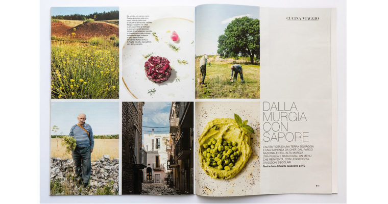 Food + Travel editorial on D la Repubblica (Aug 1st, 2020)