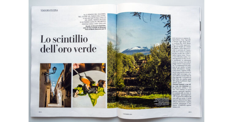 Food + Travel editorial on D la Repubblica (Dec 5th, 2020)